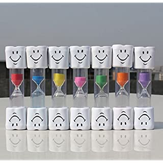 Airgoesin 50pcs Smiley Sand Timer Sandglass Child Two Minutes Oral Tooth Brushing Dental Gift for Kids and Teens