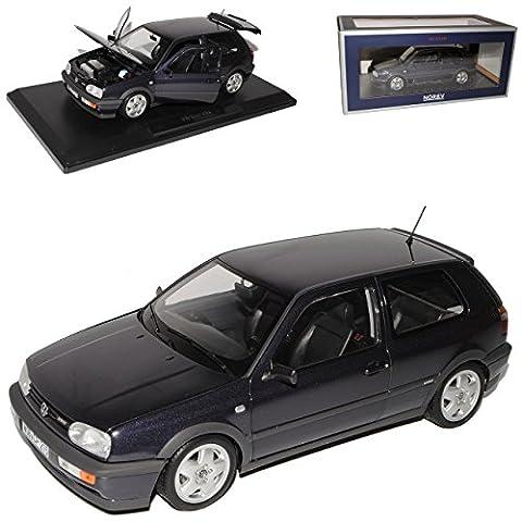 VW Volkswagen Golf III VR6 Purple Metallic Schwarz 3 Türer 1991-1997 1/18 Norev Modell Auto
