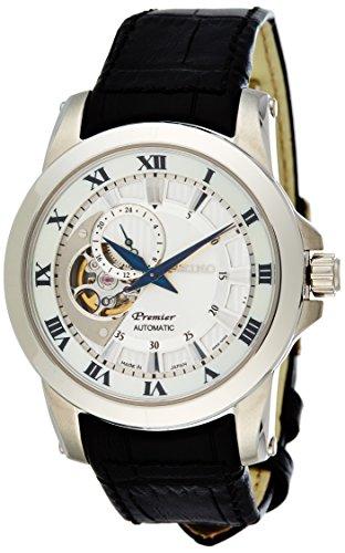 seiko-premier-automatic-reloj-analogico-de-automatico-para-hombre-correa-de-cuero-color-negro