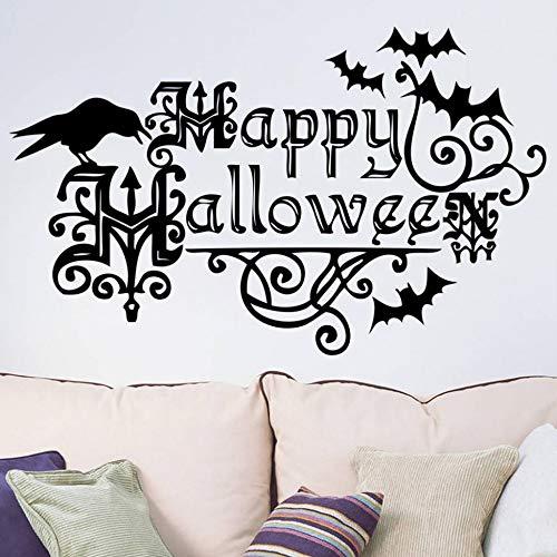 BHLTG Wohnzimmer Wandaufkleber Happy Halloween Einrichtungsgegenstände Dekor Dekor Abnehmbare DIY Wandkunst Applique Dekoration Mode Aufkleber (Happy Halloween-computer Hintergrund)