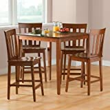 Mainstays 5-Piece Counter-Height Dining Set, Cherry by BLOSSOMZ