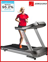 """Sportstech F66 professional treadmill with 7"""" LED display and Smartphone App control, 7.5 HP AC motor, 24km/h top speed, 18% incline, extra wide 1620x600mm running surface, HRC function, 99 programs"""