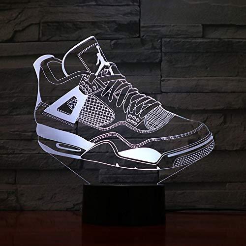 yuandp Jordan Retro 4 Zapatos Lámpara de Baloncesto Decoración de ...