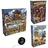 Lot Dice Town de Matagot : Dice Town Jeu de base + Extension Cowboys + Extension Wild West + 1 YoYo Blumie