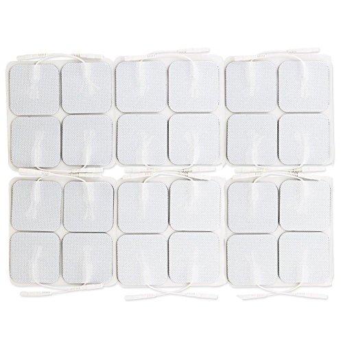 Preisvergleich Produktbild KOBWA 24 PCS quadratisch TENS Elektroden für TENS Therapie Wiederverwendbar und Premium Qualität