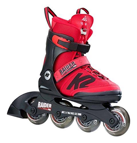 K2 RAIDER PRO Kinder Inline Skates größenverstellbare Inliner Rollerskates für Kinder (größenverstellbar von 29-34)
