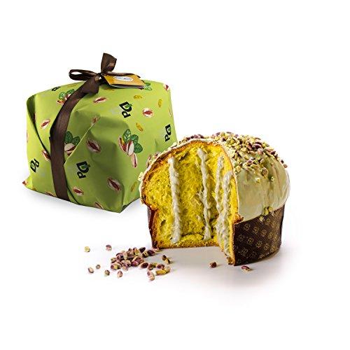500gr panettone artigianale al pistacchio farcito con crema al pistacchio - duci duci - pasticceria artigianale, panettone farcito con crema al pistacchio artigianale 500gr - prodotto artigianale siciliano