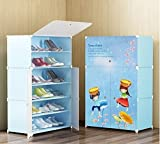 #5: Kriva Plastic Shoe and Clothes Cabinet Storage Organizer Storage with 3 Doors (Color & Design May Very)