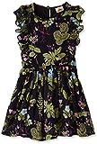 UFO Girls' Dress (AW17-WR-GKT-2443 BLACK/GREEN (6-7 Yrs))