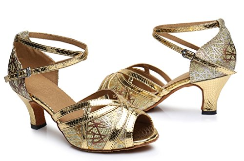 TDA , Peep-Toe femme 6cm Heel Gold