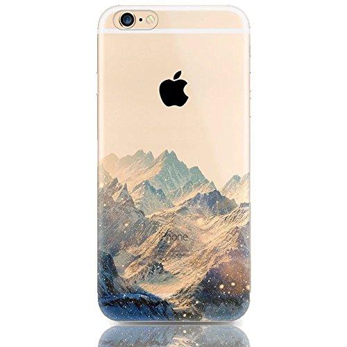 """Coque iPhone 6 6S 4.7"""" Bumper, TKSHOP Etui Housse pour iPhone 6 6S Case Ultra-slim Mince Couverture Souple Doux TPU + PC 2 in 1 Hybride Plastique Silicone Couvrir Transparent Anti-rayures et Anti Choc Mutif 33"""
