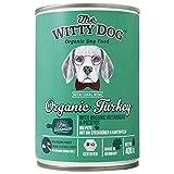 The Witty Dog, Cibo Per Cani Umido Interamente BIO, Menu Biologico Completo: Tacchino con Rutabaghe e Patate, Lattine 6x400 Gram. (Alimento Naturale Per Cuccioli, Adulti, Senior)