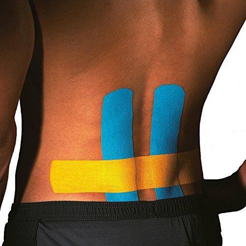 Ziatec Pro Kinesiologie Tape - viele Farben und Packs verfügbar - Physio-Tape - Sporttape 100% Baumwolle, Farbe:1 x blau / 1 x rot - 7