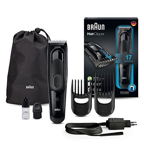 Tagliacapelli Braun HC5050 Rasoio Barba Elettrico, con 17 Impostazioni di Lunghezza