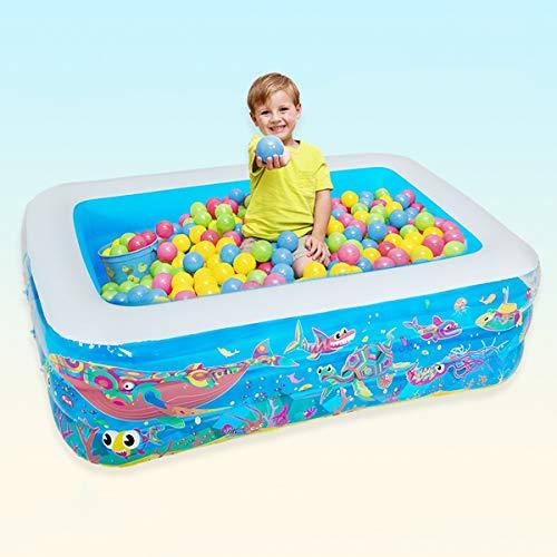 Dapang Rechteckiges aufblasbares Pool für Meeresleben, Easy Set Billardtisch, aufblasbares faltbares aufblasbares,180 * 145 * 60cm