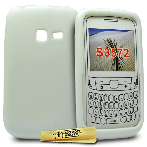 Accessory Master Cover in silicone gel per Samsung Chat S3570 Bianco