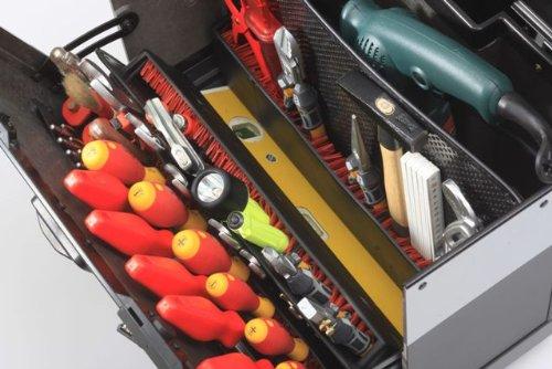 Parat Evolution Werkzeugkoffer mit CP-7-Werkzeughaltern, schwarz/silber (Ohne Inhalt) - 10