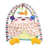 Moni Spielbogen Krabbeldecke PM413 Eule, bunte Spielzeuge mit C-Ring, abnehmbar