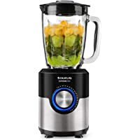 Taurus Supreme Mix - Blender mixeur 1200W, bol en verre, 1,75L, 5 vitesses + Pulse (glace pilée), 6 lames en acier…