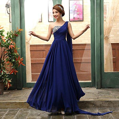 JKJHAH Kleider Kleider Brautkleider Bankett Abendkleider Weiblich, Royal Blue, M