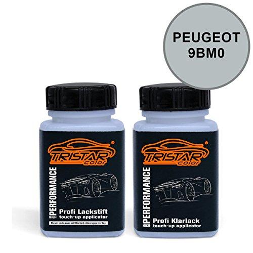 Preisvergleich Produktbild Lackstift Set PEUGEOT 9BM0 GALLIUM GRAU M. / GRIGIO GALLIUM M. ab 2005 - Autolack & Klarlack - je 50 ml