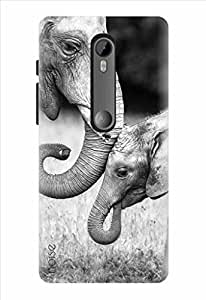 Noise Elephant Safari Printed Cover for Motorola G (3rd Gen)/ Moto G Turbo Edition