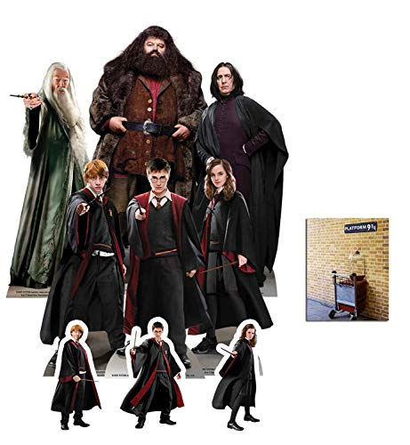 BundleZ-4-FanZ Harry Potter Offiziell Pappaufsteller Party Packung mit 9 Stück (beinhaltet Harry, Ron, Hermione, Dumbledore, Hagrid and Professor Snape) Enthält 6X4 (15X10cm) starfoto (Harry Potter Professor Snape)
