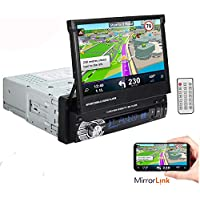 Boomboost 1 Din 7 pulgadas 1080P Radio de coche Estéreo autoradio Jugador Ayuda de la pantalla