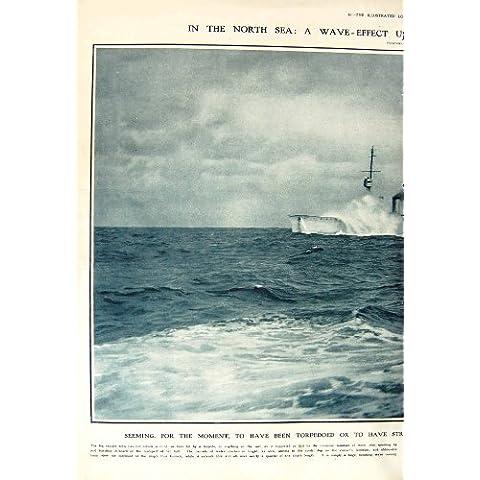 1917 ALEMÁN DEL LENTE DE LA NAVE WILHELMSHAVEN DEL CRUCERO DE MAR DEL NORTE