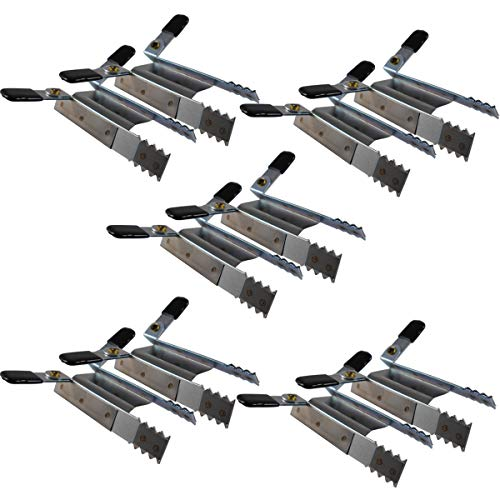 Klemmsicherung Rollladen Einbruchschutz für das Fenster, genial & einfach Sie erhalten 10Stück (5 Paar)