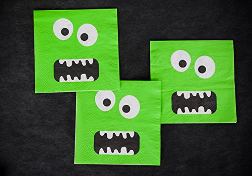 10 Lustige Grüne Monster-Party-Servietten