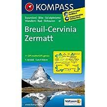 BREUIL-CERVINIA/ZERMATT 87  1/50.000