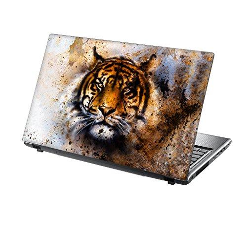 12 inch TaylorHe Skins TaylorHe 39,6cm 38,1cm Notebook Skin Vinyl Aufkleber mit farbigen Mustern und Leder Effekt Laminat hergestellt in Großbritannien Tiger Colour Splash