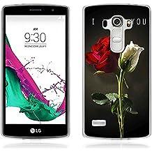 Funda LG G4 Beat - Fubaoda - Alta Calidad Serie de la pintura, [Rose] Gel de Silicona TPU, Fina, Flexible, Resistente a los arañazos en su parte trasera, Amortigua los golpes, funda protectora anti-golpes para LG G4 Beat / G4s (H735)