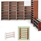 Sistema modular Botellero MEDOC, Módulo 2, pino cereza, capacidad 48 botellas, apilable / ampliable - alt. 87,5 x anch. 68 x pr. 27 cm