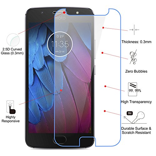 Jkobi Exclusive Explosion Proof Quality Tempered Glass For Motorola Moto G5s Plus Scratch Protector Screen Guard  available at amazon for Rs.130