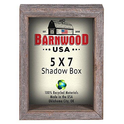 barnwoodusa | Farmhouse Rustikal Shadow Box–100% Garderobenleiste aus wiedergewonnenem Holz (Holz-shadow Rustikale Box)