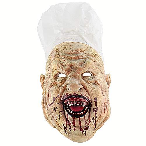 SUNLMG Halloween Blutige Verrückte Chef Maske Wählen Sie Perfekte Geburtstagsfeier Halloween Photo Booth Party Supplies/Geschenke