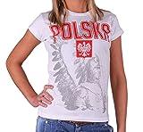 Quaint Point Polska Polen Trikot Damen T-Shirt KP9W (S)