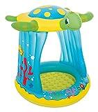 Bieco 22052219 - Kinder Pool mit Dach, Schildkröte, ca. 109 x 104 x 96 cm