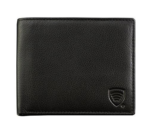 BBM Herren Kreditkarten-Geldbörse mit RFID-Schutz, echtes -