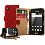 Membrane - Rouge Portefeuille Etui Coque Samsung Galaxy Ace (GT-S5830, S5830i, S5839i) - Wallet Case Housse