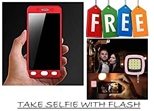 360 Degree Hybrid Front Back Cover Case For Oppo A37 With Free Selfie Flash