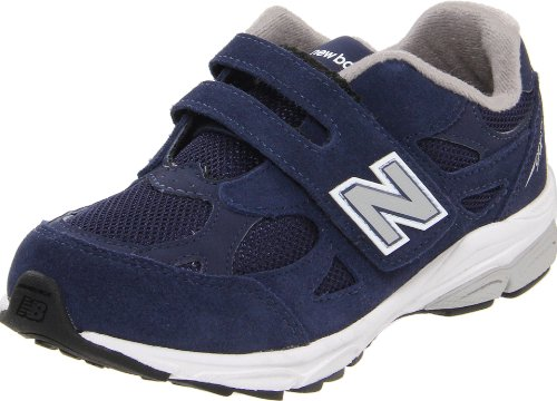 New Balance - unisex-child 990v3 Grade School Running Shoes, UK: 1 UK Junior, Navy with Grey