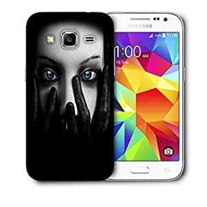 Snoogg Lady Eyes Printed Protective Phone Back Case Cover For Samsung Galaxy Core Plus G3500