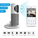 Clever Dog 2nd Generation 960P 120°Wide Angle Lens Wireless security wifi camera Support Max 128GB SD card / Support Cloud Stotage (Grey)
