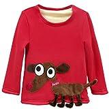 Купить Sweatshirt Baby Shirt Fleecepullover verdicken langarm Babykleidung für Jungen Mädchen Vine