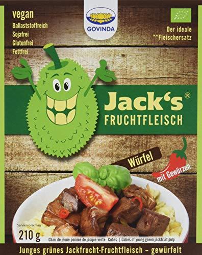 Govinda Jackfrucht-Fruchtfleisch gewürfelt, 3er Pack (3 x 210 g)