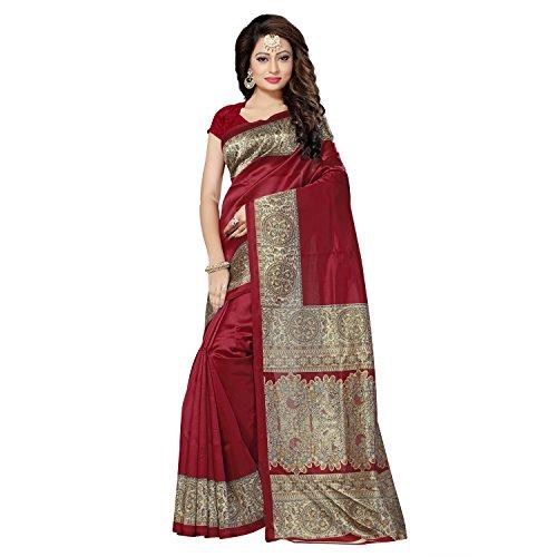SAREE MALL Womens art silk Saree with blouse (sarees offer below 500 rs_SRJ022)