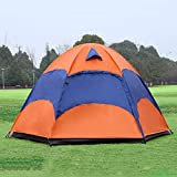 PENG 5-8 Personne Tente de yourte mongole avec moustiquaire étanche Se Pliant séparé Double Couche Camping pêche été Plage Tente